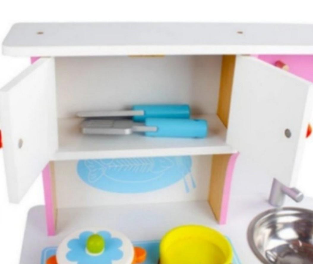 PO) BN Wooden Small Kitchen Kitchenette Play Set, Babies & Kids ...