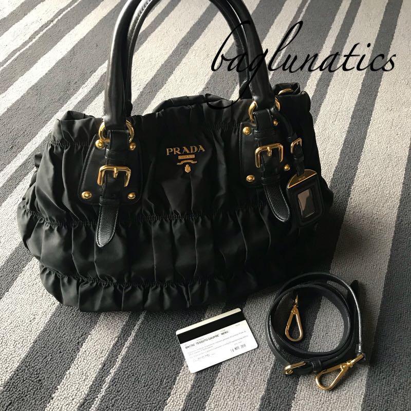 9830b712227f ... wholesale reduced authentic prada tessuto gaufre nylon bag barangan  mewah 64d27 ed0ff ...