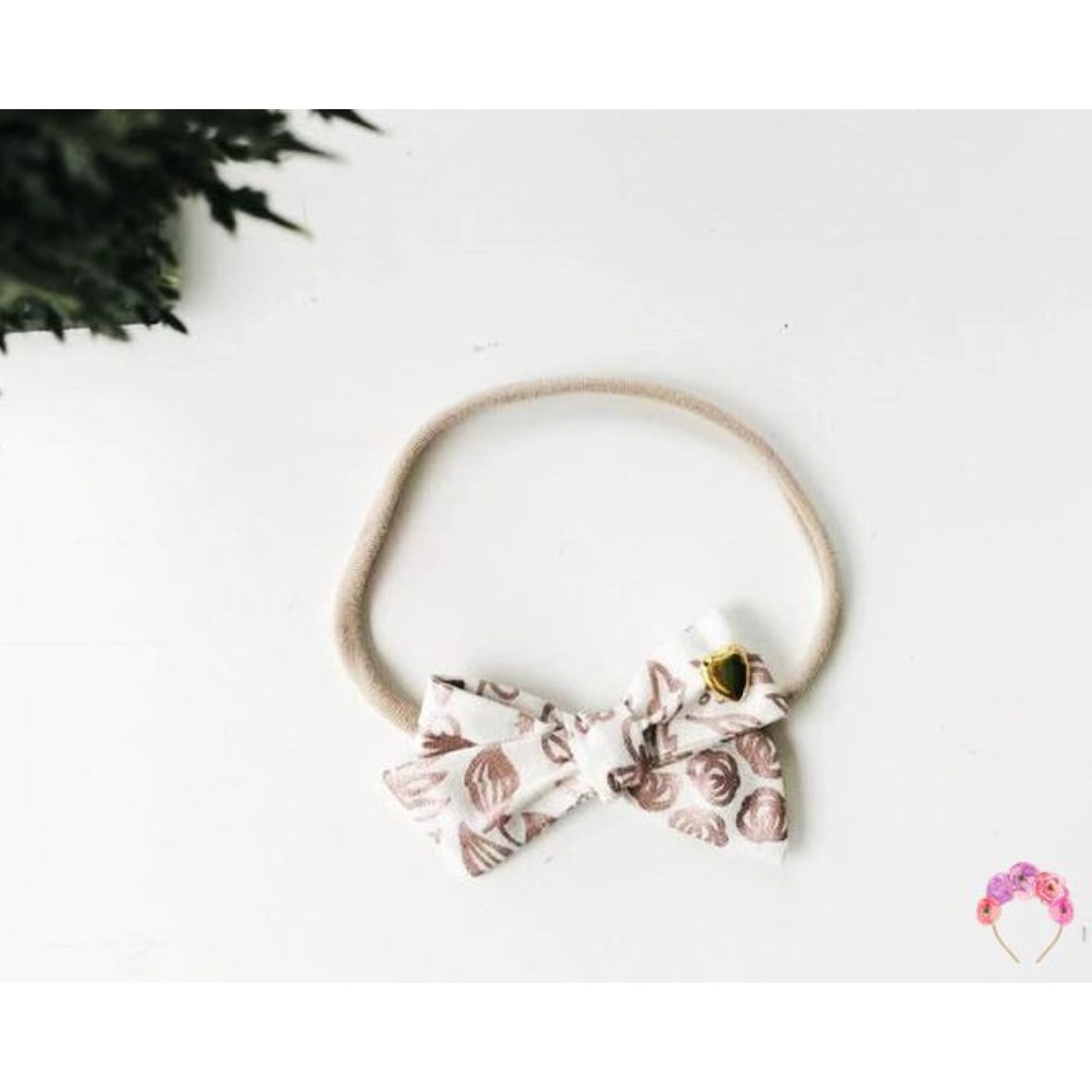 fdc0bc5051df8 Rose Gold School girl Bow headband
