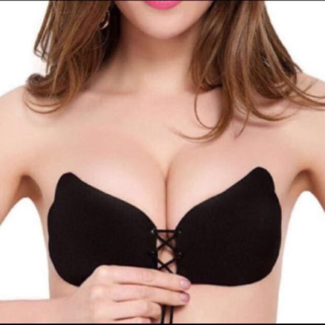 0112d0338228d Shoelace Stick On Bra (With Box)