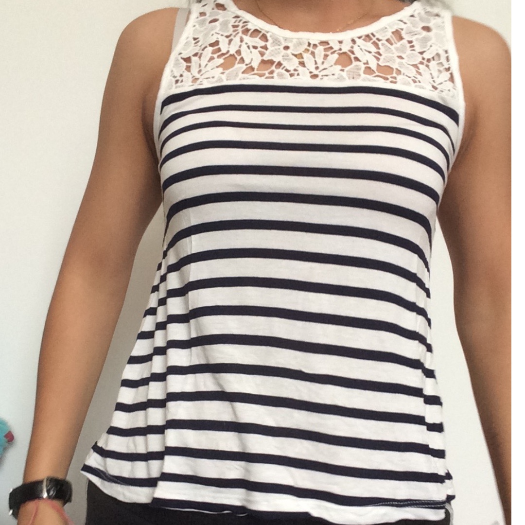 Tee Shirt Striped Womens Fashion Clothes Tops On Carousell Blouse Rahmat Flower Photo