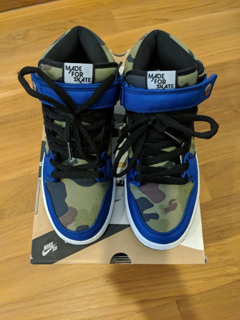 e376e9024a47 US 8 Nike Dunk Mid Pro Premium SB (Old Royal Black-White)