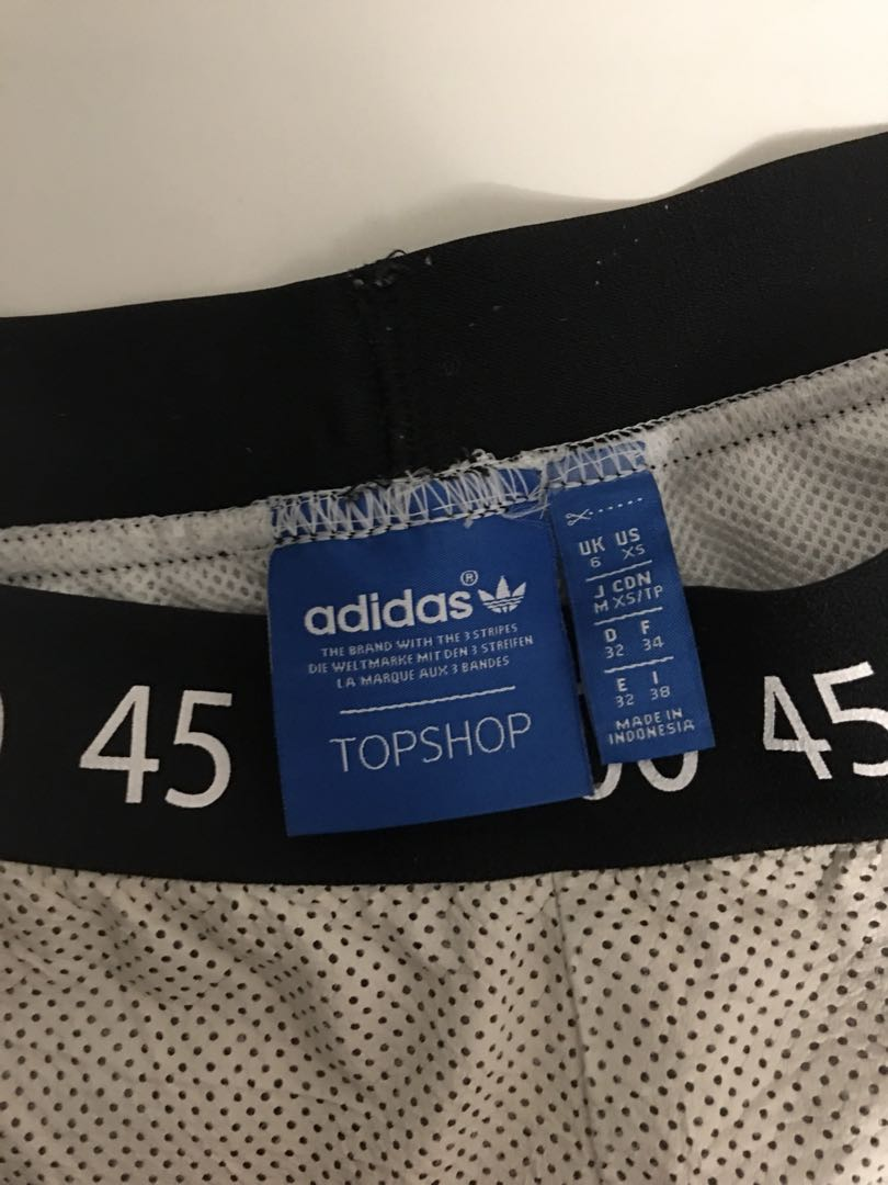 White Leather Adidas Shorts