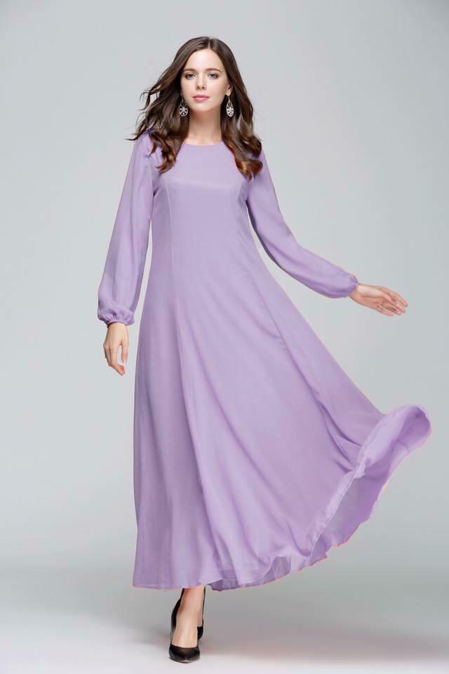 85f6a05c1961 Xl Instock chiffon Long dress muslimah Jubah, Women's Fashion ...