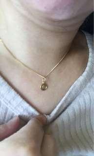 18k (pendant) 14k (necklace)