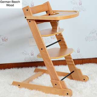 🚚 Free Delivery- Foldable German Beech Wooden Highchair