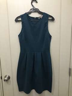 F21 Blue Green Dress with laced sleeves