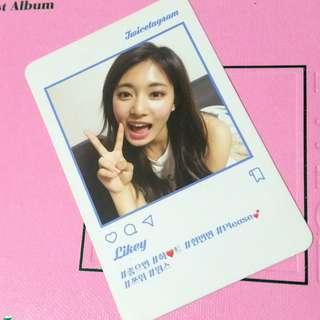 Twicetagram Tzuyu Photocard