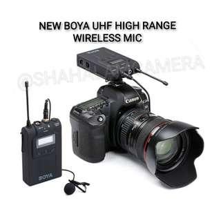 (NEW) BOYA UHF WIRELESS MICROPHONE