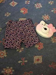 Periwinkle reversible shorts for babies