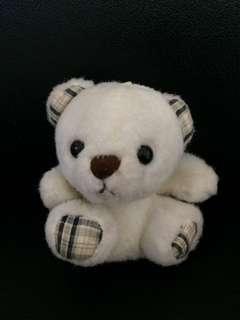 可愛白色熊仔(頭上附吊繩可作吊飾)