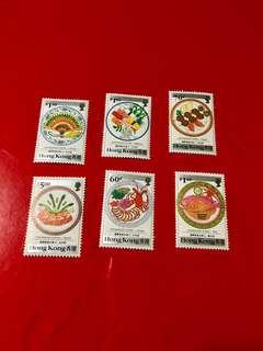 1990年國際美食在香江香港郵票