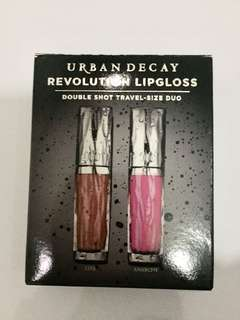 Brand New Urban Decay Revolution Lip Gloss Double Shot Travel Size Duo
