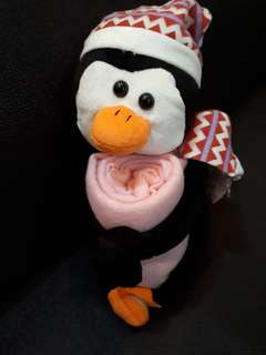 Stuffed Penguin with Baby blanket