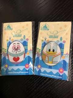 Disney pins 花蛋 Donald Duck 唐老鴨 Mr. Rabbit Alice