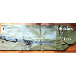 Water resistant, authentic, US army duffel bag