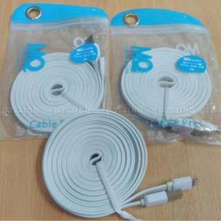 Kabel Data Lightning MQ Pro 60CM Flat for Apple iPhone