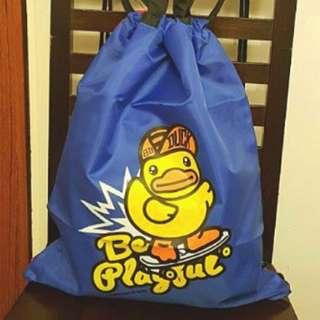 清貨 B.Duck 全新 併色趣緻手挽及背索袋