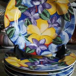 Jual Piring kue Jadoul Ceper Cantik dgn motif bunga2 nya ada 5pc