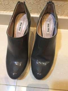 Miumiu grey ankle boots