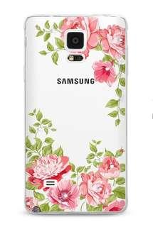 三星 Samsung  Note 4 3D立體浮雕 閃耀水鉆 全包邊軟手機套 手機殼 *蝕本價$70  (只餘一件)