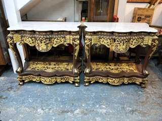 View to offer. A pair of peranakan console table.