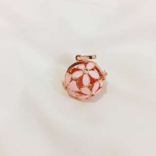 2.Pink Big Flower Rose gold Essential Oil Diffuser Charm(Only charm)