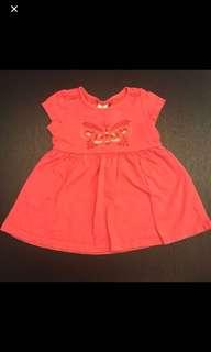 (P) Tiny Button Baby dress