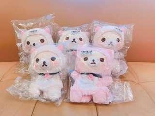 《SAN-X拉拉熊 懶懶熊 懶妹/日本原裝進口/全新正版》可愛小貓造型手偶娃娃/布偶娃娃-26cm
