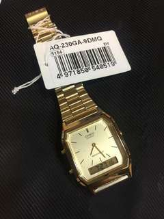 CASIO AQ-230 GOLD WATCH