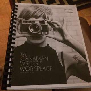 Eac 149 English Book ' The Canadian Writers Workplace'