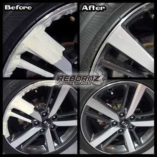 Rims kerbrash repair