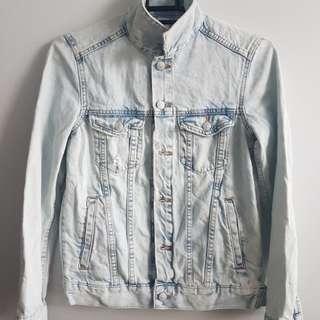 Washed &Denim Overrun Jacket (Medium)