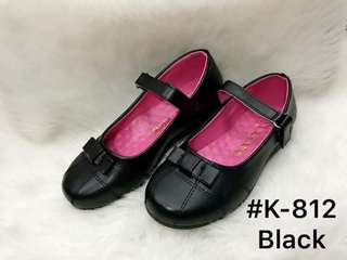 Black shoes for school  💰400  Size31-36  for 5-8yo *with box *yk