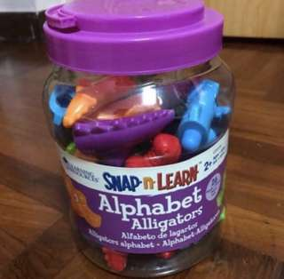 Learning resources snap n learn alphabet alligator