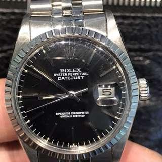 Rolex 全原裝正版16030 DATEJUST七十年代 罕有原裝黑面沒有翻寫面行走正常靚仔