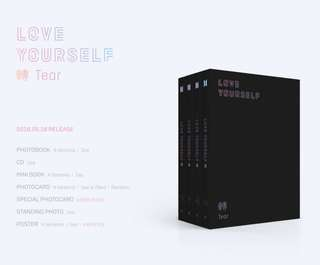 BTS 3RD FULL LENGTH ALBUM - LOVE YOURSELF 轉 'Tear'