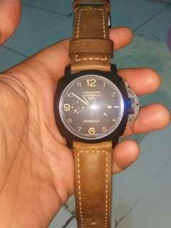 Jam tangan luminor panerai gmt caramica cloning 1:1 mantaps