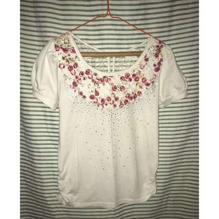 Floral Top - White