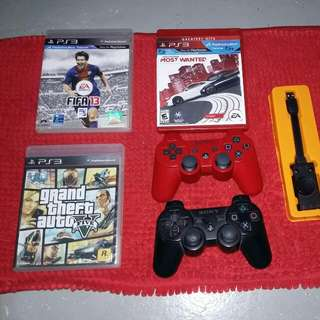 PS3 CONTROLLER'S,  GAMES  & GAMEING SOUND SYSTEM