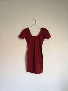 american apparel maroon dress