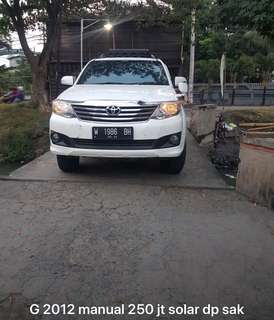 Toyota fortuner G 2012 mulus manual