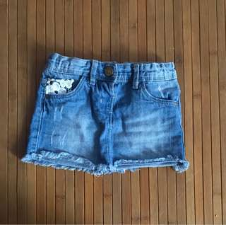 Denim Skirt Girl 12m