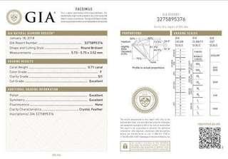 0.7 Carat - Grade F GIA Certified Diamond
