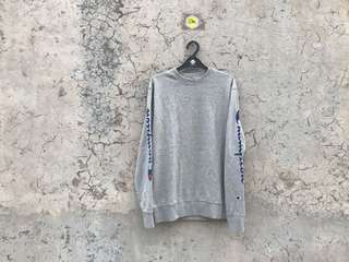 Champion Sweatershirt Side Logo Grey