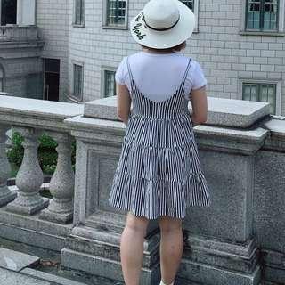 🚚 直條紋洋裝