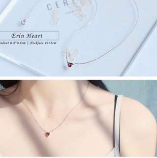 💎BN Korean Erin Red Heart Delicate Necklace