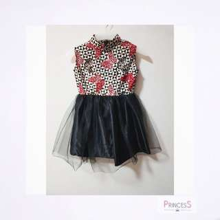 Dress batik anak motif kupu