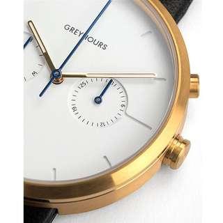 greyhours vision classic gold 名牌手錶 防水 極簡約風 簡潔大方 SIMPLE