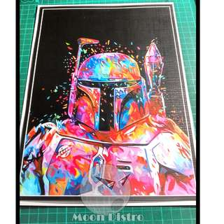 Star Wars PVC Stickers - Canvas (Boba Fett)